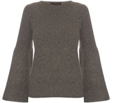 The Row Atilia cashmere flared-sleeve sweater