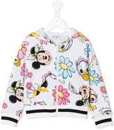 MonnaLisa Minnie Mouse hooded jacket - kids - Cotton/Spandex/Elastane - 10 yrs