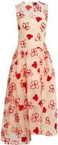 Simone Rocha Spooky flower-embroidered midi dress