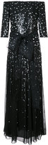 Carolina Herrera Pailette sequinned gown - women - Silk/Sequin - 2