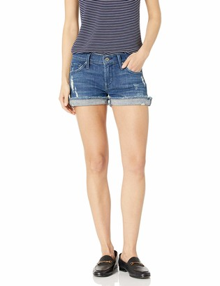 James Jeans Women's Shorty Slouchy Fit Boy Shorts in Indio Blue