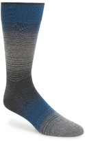 Bugatchi Men's 'Alternating Ombre' Stripe Socks