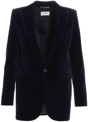 Saint Laurent Single-Breasted Velvet Jacket