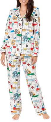 Bedhead Pajamas x Monopoly Print Long Sleeve Stretch Cotton Pajamas