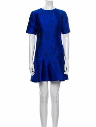 Alice + Olivia Crew Neck Mini Dress w/ Tags Blue