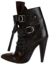 Isabel Marant Multistrap Leather & Suede Ankle Boots