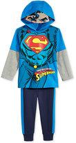 Nannette Little Boys' 2-Pc. Superman Graphic-Print Hoodie & Pants Set