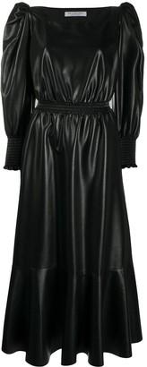 Philosophy di Lorenzo Serafini Puff-Sleeve Vegan Leather Dress