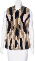 Jocelyn Fur Patchwork Vest