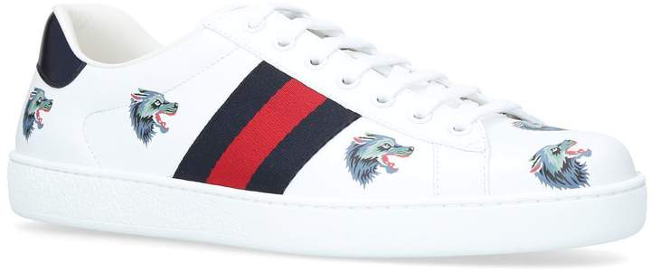 Gucci New Ace Wolf Sneakers