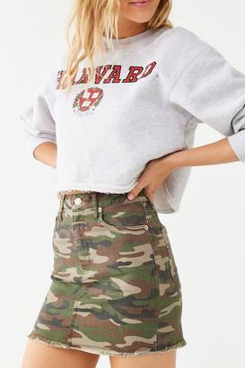 Forever 21 Camo Denim Mini Skirt