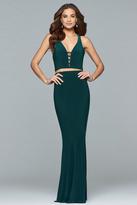 Faviana 10056 Two Piece Jersey Sheath Dress