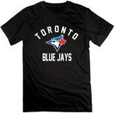 QUFGH Men's Toronto Blue Jays Royal Victory Arch Logo Cotton Shirts