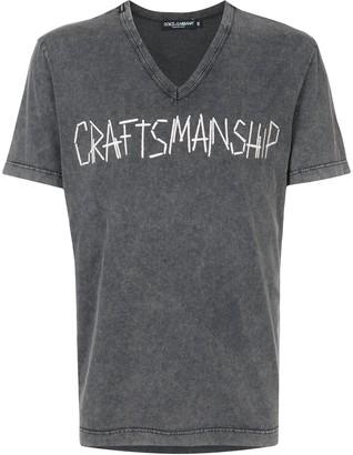 Dolce & Gabbana embroidered craftsmanship T-shirt