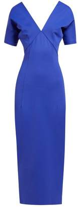 Haider Ackermann Off-the-shoulder Cady Dress - Womens - Blue