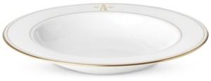 Lenox Federal Gold Monogram Pasta/Rim Soup Bowl, Block Letters