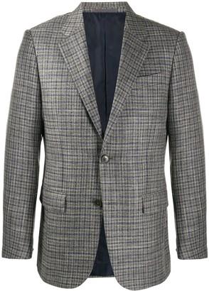Ermenegildo Zegna Plaid Blazer Jacket
