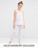 Asos Bright Leopard Pajama Tank & Pant Set
