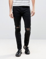 Black Ripped Jeans Men - ShopStyle