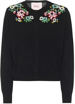Marc Jacobs Embroidered wool-blend cardigan