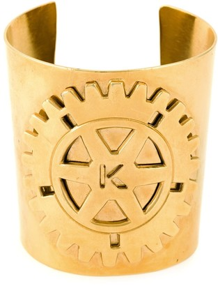 Krizia Pre-Owned embossed logo cuff