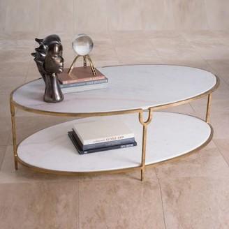 Global Views Iron and Stone Coffee Table