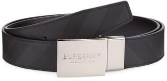 Burberry Reversible Logo Plaque Leather Belt