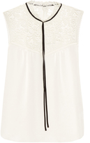 Erdem Julisa sleeveless silk-cady blouse