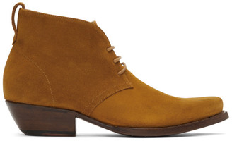 4SDESIGNS Tan Suede Western Boots