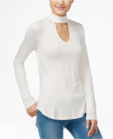 Ultra Flirt Juniors' Mock-Neck Keyhole Top