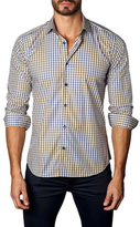 Jared Lang Plaid Cotton Button-Down Sportshirt
