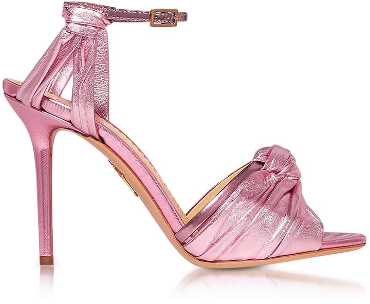 Charlotte Olympia Broadway Party Pink Metallic Nappa Sandal