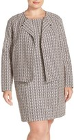 Tart Plus Size Women's 'Aviana' Print Collarless Jacket