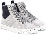 Hogan H hi-top sneakers - kids - Leather/Suede/rubber - 28