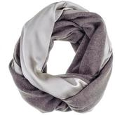 Black Double Size Champagne Silk and Soft Brown Cashmere Snood