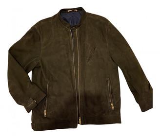 Oliver Spencer Khaki Leather Leather jackets