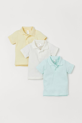 H&M 3-pack Polo Shirts - Green