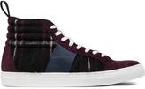 MSGM Black Cupsole High Cut Sneakers