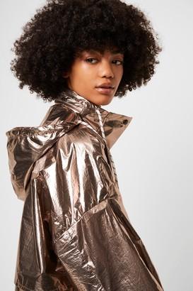 French Connenction Clara Windbreaker Foil Jacket