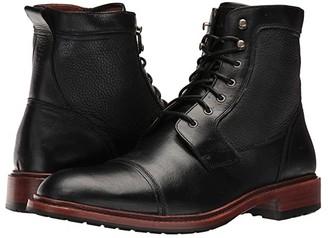 Trask Lowell (Black American Steer/Black Norwegian) Men's Flat Shoes