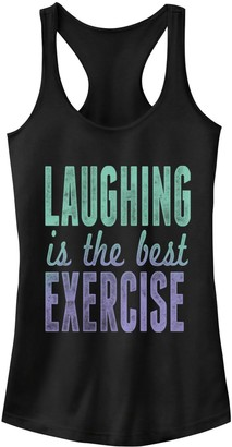 Fifth Sun Juniors' Laughing Is Exercise Racerback Tank