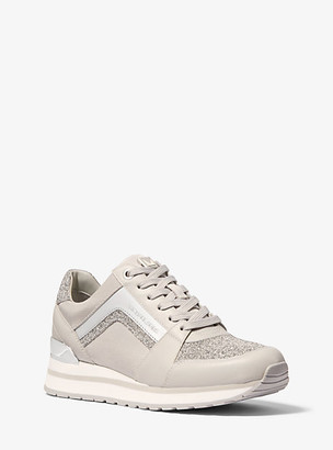 MICHAEL Michael Kors Billie Canvas And SwarovskiA Crystal Embellished Trainer