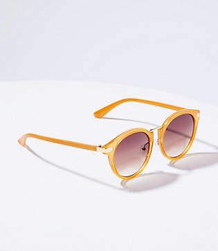 LOFT Metal Bridge Round Sunglasses