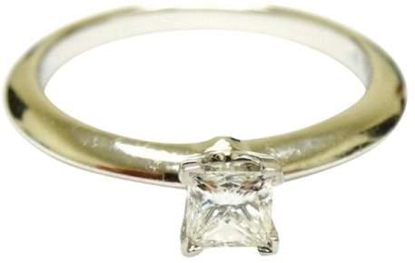 Tiffany & Co. Platinum Princess Engagement Diamond Solitaire Ring