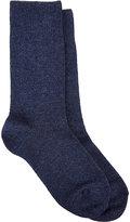 Barneys New York Women's Warm Trouser Socks-BLUE
