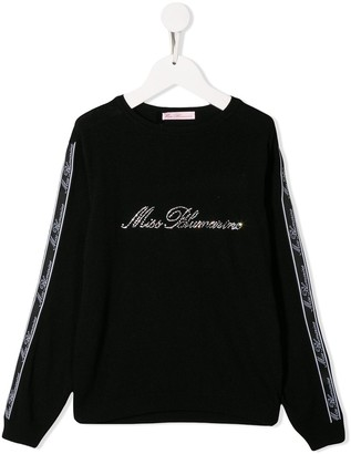 Miss Blumarine crystal embellished jumper