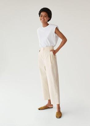 MANGO Jeans culotte high waist pastel yellow - XS - Women