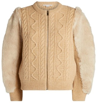 Stella McCartney Cable-Knit Bomber Jacket