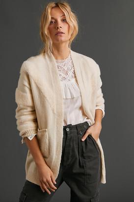 Anthropologie Phaedra Plush Cardigan By in White Size XS