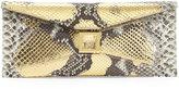 Kara Ross Prunella Stretch Python Clutch Bag